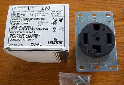 Leviton 278 30 AMP 125//250 14-30R RECEPTACLE HBL9430A 3864 5744N 9430FR
