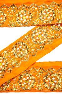 Vintage Indian Sari Ribbon Ethnic Indian Trim Antique Ribbon By 1 Yard