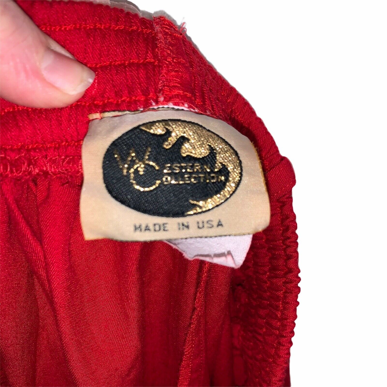 Western Collection Size Small Vintage Red Studded… - image 8