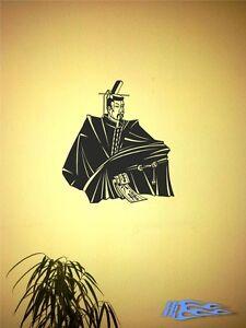 Wandtattoo-SAMURAI-4-Kult-Japan-Tradition-Wandaufkleber-Krieger