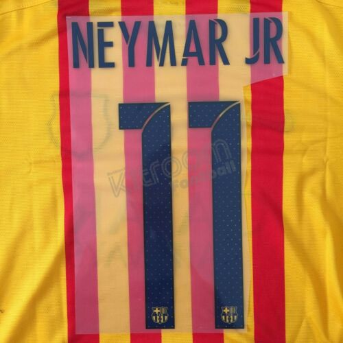 2015-16 Barcelona Player Issue Away Name Set Avery for Shirt Jersey