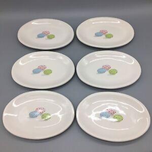 x6-Rae-Dunn-Appetizer-Dessert-Oval-Plate-Set-Speckled-Easter-Egg-Blue-Pink-Green