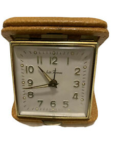 VTG-Seth-Thomas-Travel-Alarm-Clock-Made-In-Germany-Tested-and-Working