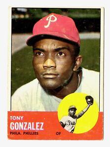 1963 Topps #32 Tony Gonzalez Philadelphia Phillies Baseball Card