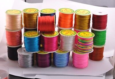 1Roll 50Yards Nylon Cord Thread Chinese Knot Macrame Bracelet Braided Cord 2MM
