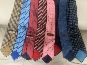 Lot Of 8 Men S Neck Ties Austin Reed Stripe Geometric Dot Blue Red Multicolor Ebay
