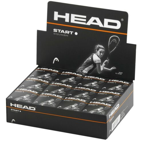 HEAD START Squash Sfere-Singolo Bianco Dot-Scatola di 12