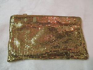 Image Is Loading Vintage Gold Tone Metal Mesh Purse Evening Bag