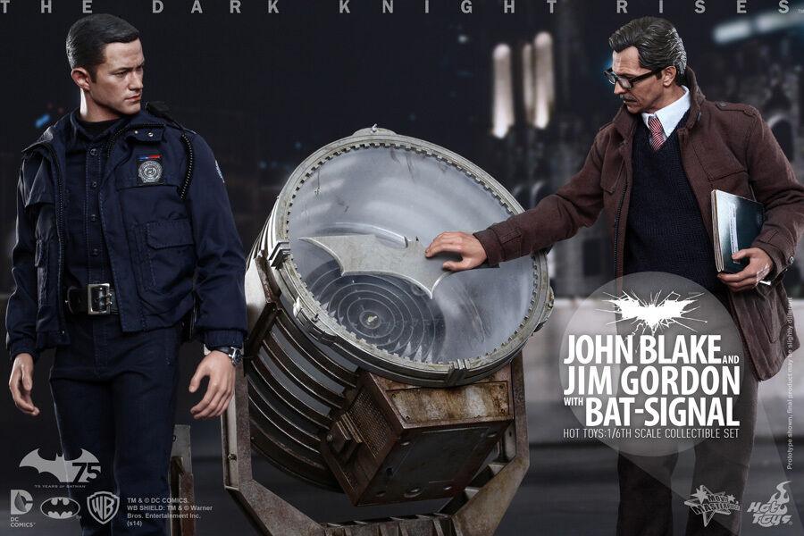 1 6 Hot Toys MMS275 The Dark Knight Rises John Blake Jim Gordon Set Figure