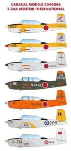 Caracal-Decals-1-48-Beechcraft-T-34A-Mentor-International-48086