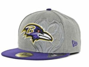 3a7e75dfaa96b8 New Era® NFL® Baltimore Ravens 59Fifty™ Team Screening Fitted Flat ...