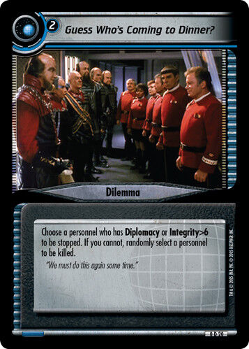 Star Trek 2E: Guess Who/'s Coming to Dinner? Promo Promo Cards Lightly Played