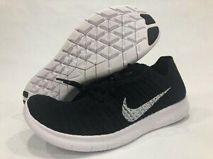 bas prix dfcdb 5213d Details about Nike 2016 Free RN Flyknit Mens Sz 8 Black White 831069-001  Running Training