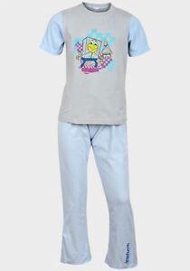 Bob-L-039-eponge-Gris-Pour-Garcons-Pale-Poudre-Bleu-Coton-Nuit-Pyjama-Pijama