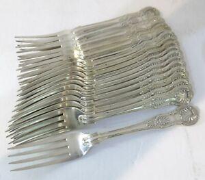 Sterling-Silver-Antique-English-Kings-Pattern-Dessert-Salad-Forks-7-2-034-G-Adams
