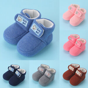Winter-Baby-Boots-Infant-Kid-Booties-Toddler-Girls-Boys-First-Walking-Shoes-AU
