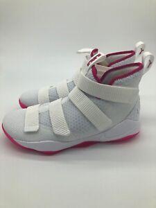 c2f97d49ec9c3 Nike Men s Sz 12 Lebron Soldier XI 11 Kay Yow White Vivid Pink ...
