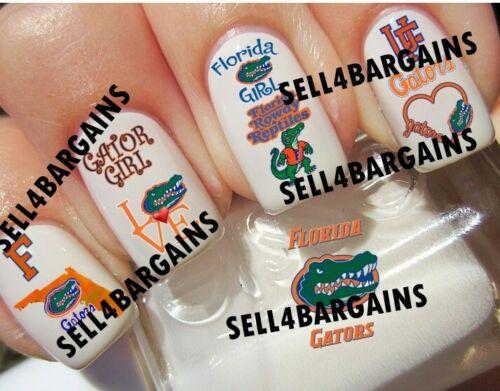UNIVERSITY OF FLORIDA GATORS》10 Different Designs》Tattoo Nail Art Decals