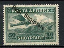 """Albania 1927 SG#207b 50q Air Optd Upright """"R"""" Variety MH #A30874"""