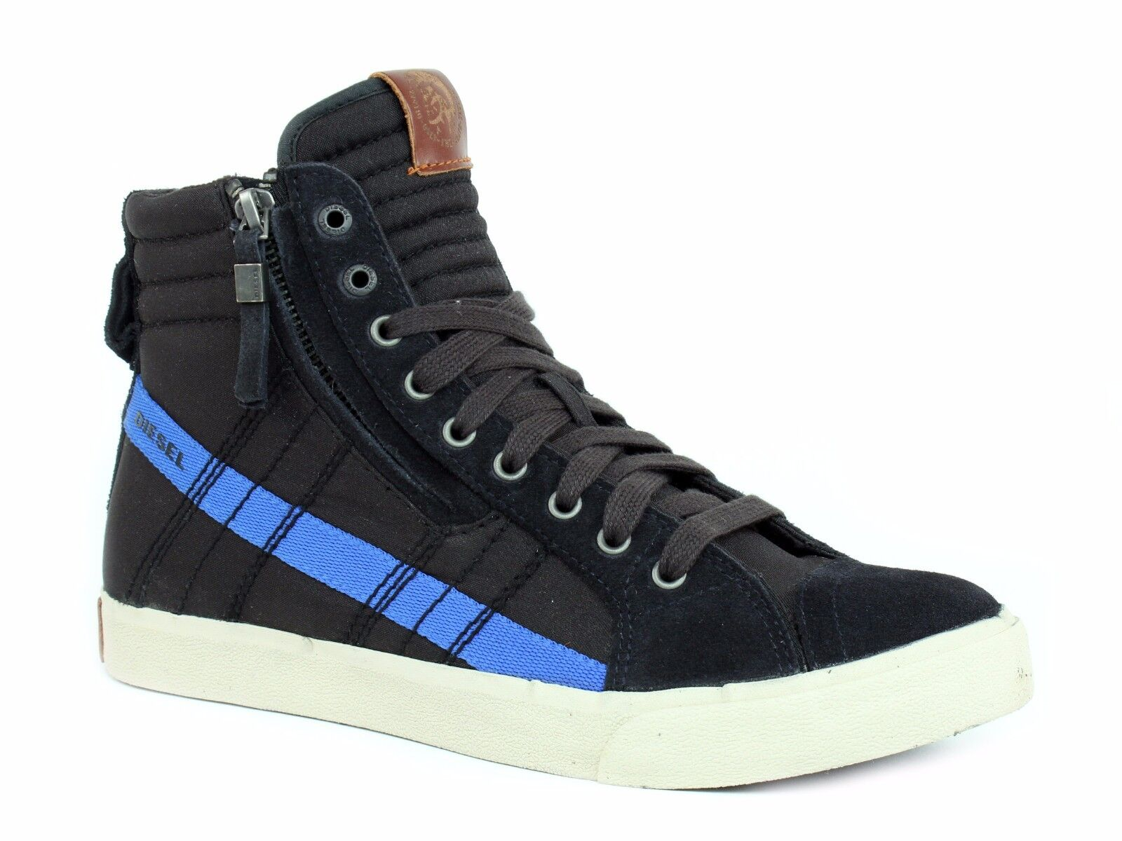 Diesel D-STRING High Top Mens Casual Fashion Anthracite Nautical shoes Sneaker