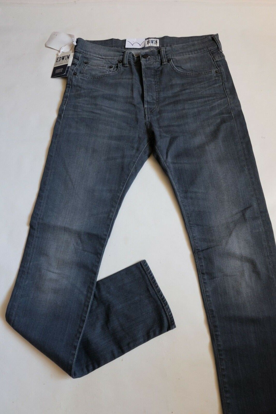 940fc5e6f JEANS EDWIN MAN ED 80 SLIM TAPERED (cs grey- dark trip) W31 L34 VAL ...