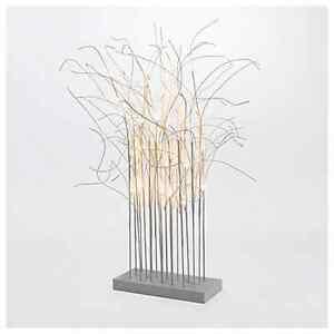 led zweige kunstzweige auf sockel wei leuchtzweige weihnachtsdeko 32 led 90cm ebay. Black Bedroom Furniture Sets. Home Design Ideas