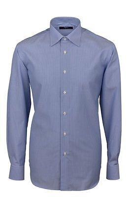 Camicia Ingram Regular Fit Azzurro mille righe Cotone No Stiro Taglia 47 XXXL