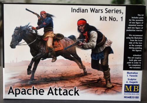 neu 2017 1:35 35188 Master Box Indian Wars Series Apache Attack