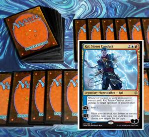 mtg-RED-BLUE-IZZET-DECK-Magic-the-Gathering-rares-60-cards-ral-storm-conduit