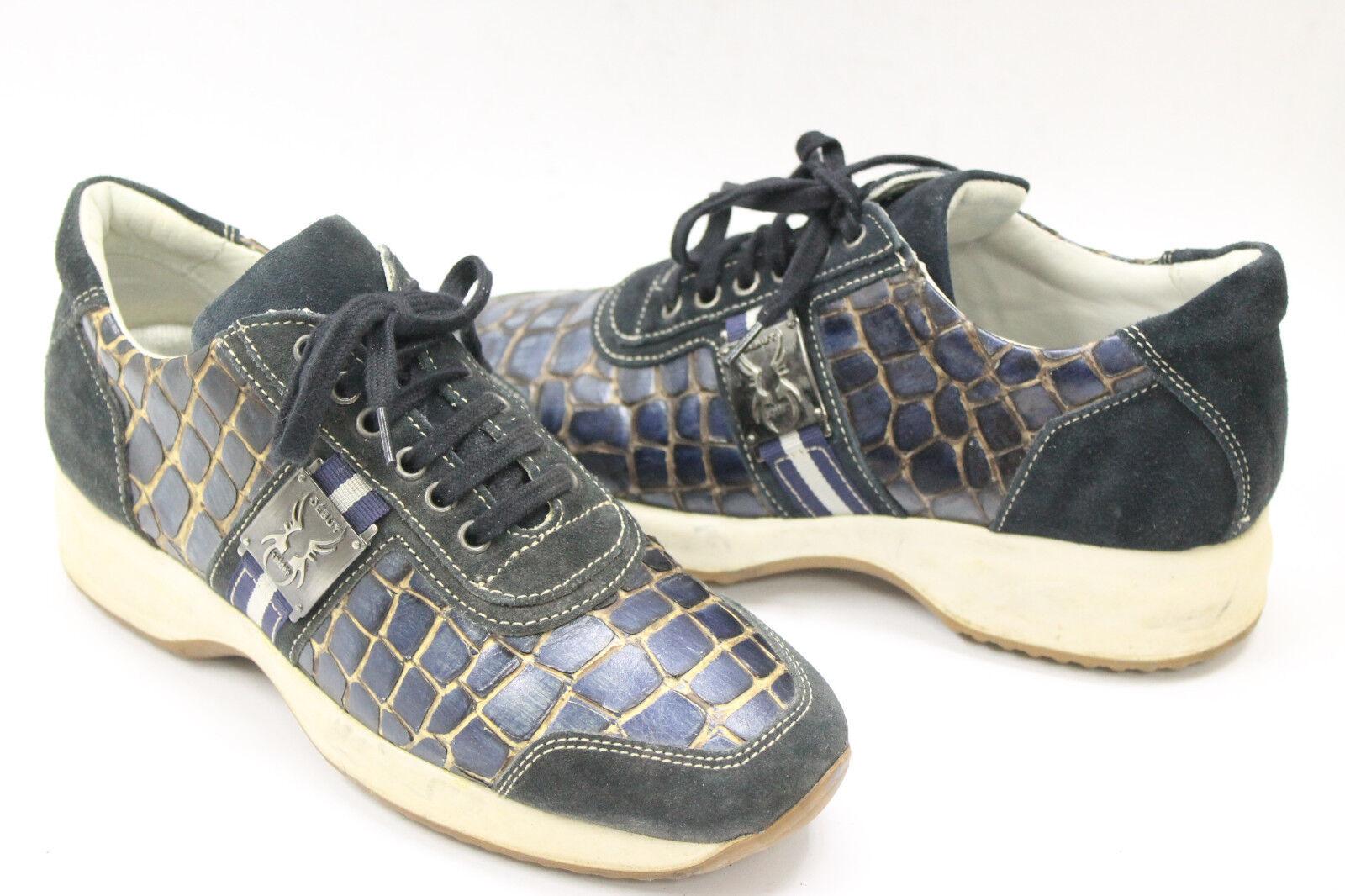Debut mujer zapatos zapatos zapatos talla 7.5 Europa 38 azul Suede Beige Cuero S7071 84bc98
