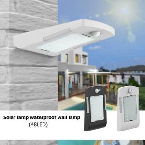 48 LEDs Solar Light PIR Motion Sensor Waterproof Security Garden Path Wall #BUY