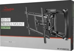 NEW-Rocketfish-Full-Motion-TV-Wall-Mount-for-Most-40-inch-to-75-inch-Screens
