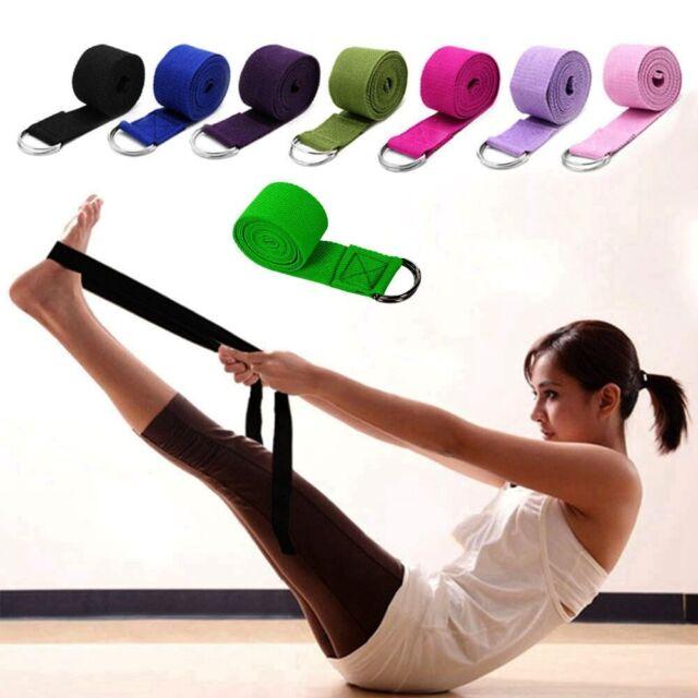 Bands Waist Leg Resistance Yoga Stretch Strap Yoga Belts D-Ring Belt Gym Rope