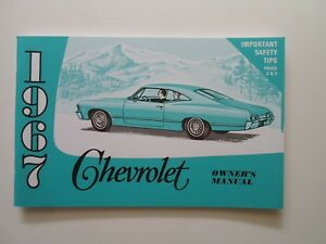 1967 chevrolet impala owners manual for your glovebox ebay rh ebay com 70 Chevrolet Impala 1967 chevy impala owners manual pdf