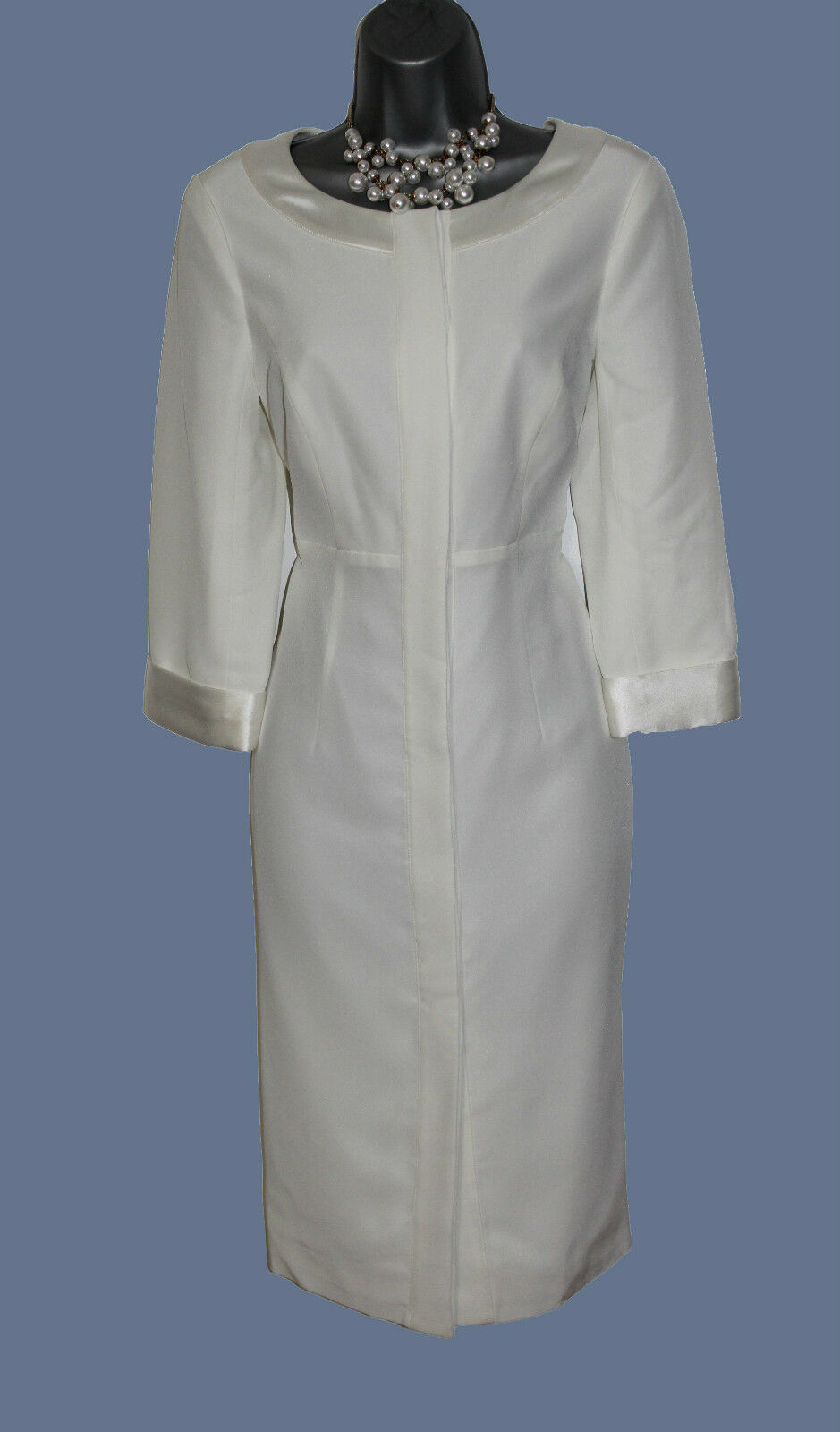 MONSOON Ivory Long Sleeve Two in One Dress Jacket 12 Wedding Bridal Evening