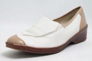 Ara-Schuhe-weiss-beige-Leder-Schuhweite-G-Gr-39-UK-6