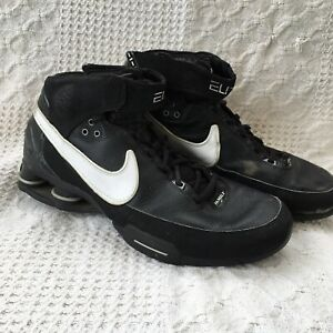 b468666fe39 Image is loading Mens-Nike-Elite-Family-Shox-Black-Basketball-Athletic-