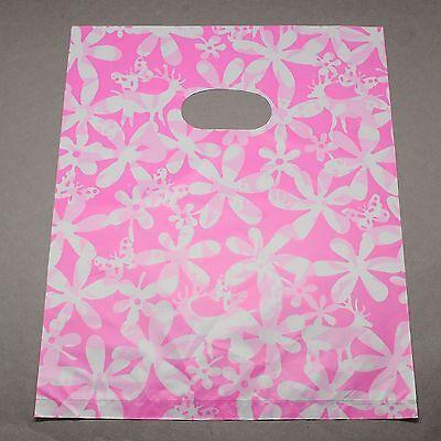 lot 50 pochette sac sachet plastique fantaisie 19.5x15 blanc rose cadeaux,bijoux