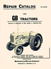 Minneapolis Moline Gb Gbd Tractor Parts Manual Catalog