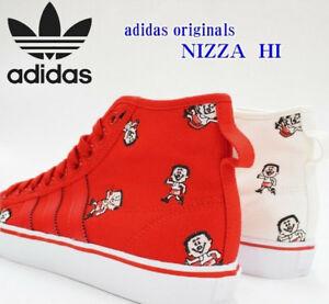 Dettagli su Men'S Adidas NIZZA HI Alta Scarpe Di Tela Scarpe Da Ginnastica Da Basket UK 7 7, 5 8 9 9,5 10,5 mostra il titolo originale