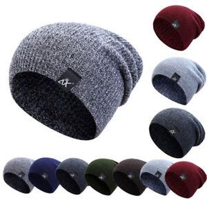 46dbc5ca6d6 Women Men Beanie Knit Ski Cap Hip-Hop Blank Color Winter Warm Unisex ...