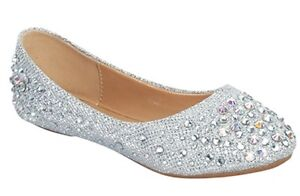 Link Larisa-39K Girls Kids Ballet Flats Shoes Fabric NEW in Box
