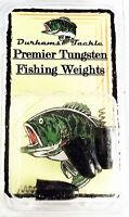 Durhams Tackle- Premier Tungsten Screw-in Weight 5/16oz Black (3 Pack)