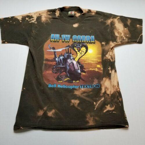 Vtg 1997 AH-1W Cobra Bell Helicopter T-Shirt Mens