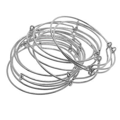 DIY Jewelry Making 2 inch 10pcs Expandable Bulk Wire Blank Adjustable Bangle Bracelet for Baby