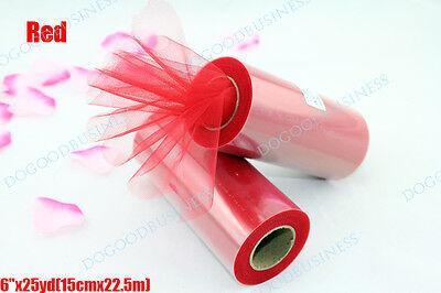 """TULLE Roll Spool 6""""x25yd (6""""x75') Tutu Wedding Gift Bow"""