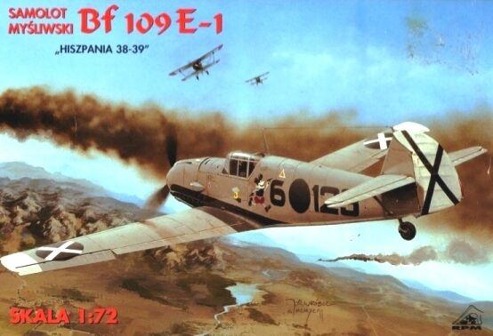 MESSERSCHMITT Bf 109 E-1 (LEGION CONDOR MARKIERUNG) 1/72 RPM RARITÄT