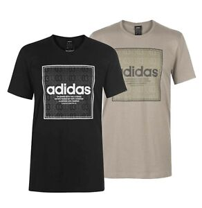 Mens Adidas Crew Lightweight Top Box Linear Texture T Shirt Sizes from S to XXL