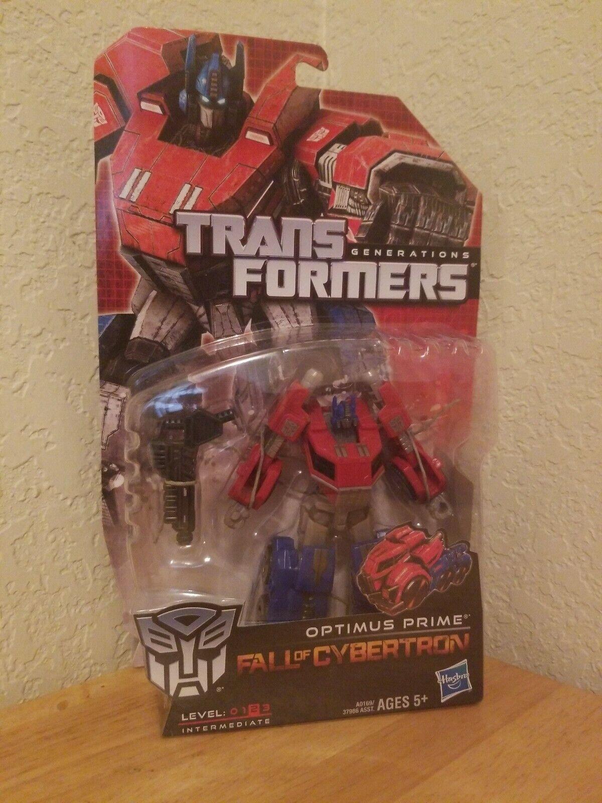 OPTIMUS PRIME Transformers Generations Deluxe Class Autobot figure FOC BENT CARD