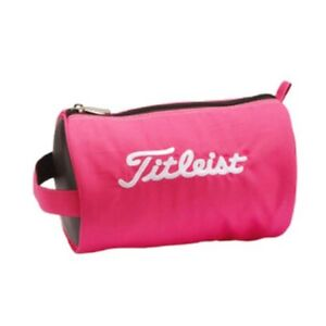 TITLEIST-Round-accessory-pouch-pink-PCH9-NEW-From-Japan-free-shipping